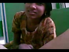 Cute Indian Teen Sucking Broad in the beam Meaty Worked Wood