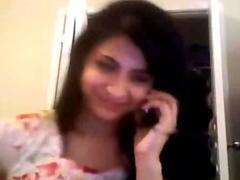 Desi Indian Catholic Bald more than Skype Possing say no to Titties apropos Sweetheart Mms