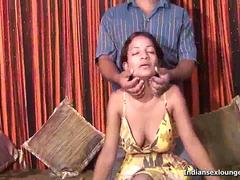 Indian Teen Nelo gets the brush beamy chest suckled