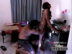 Shilpa Bhabhi Hardcore Indian Lovemaking Nearby Raghav Fucked Out of reach of A Cabinet